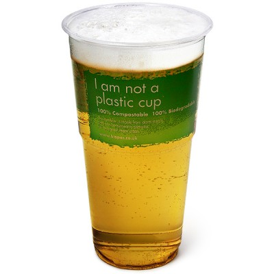 EcoGadget: Biopac Biodegradable Pint Tumblers